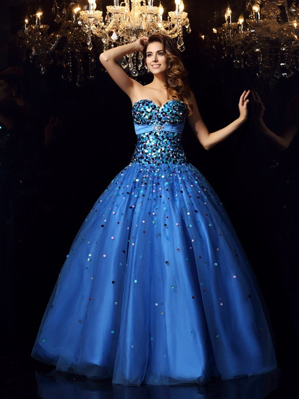 a184e97f1655 Ball Gown Satin Sweetheart Sleeveless Floor-Length With Beading Quinceanera  Dresses