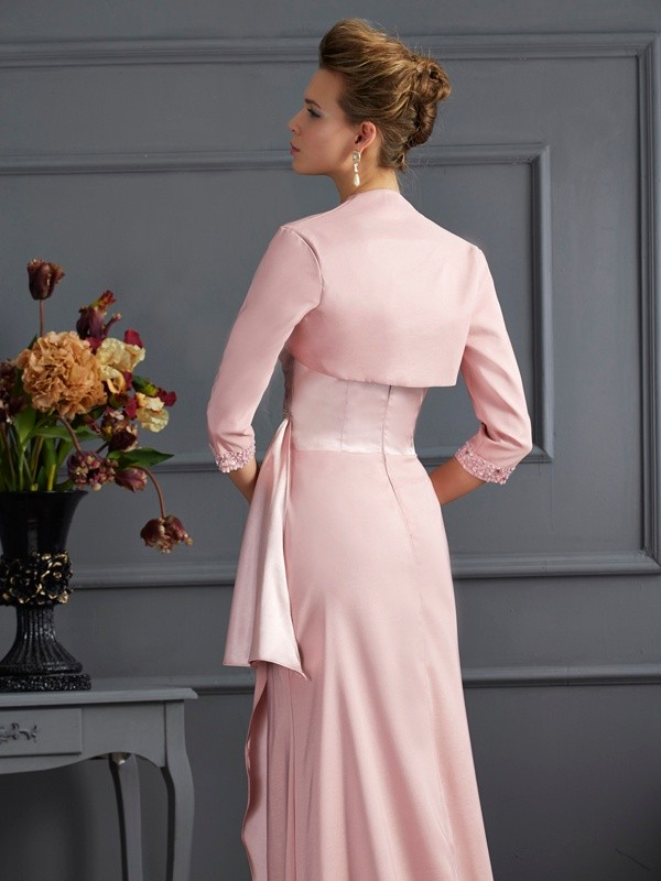 75bc2ea8b2bab Elastic Woven Satin 3/4 Sleeves Special Occasion Wrap - Promlily Online