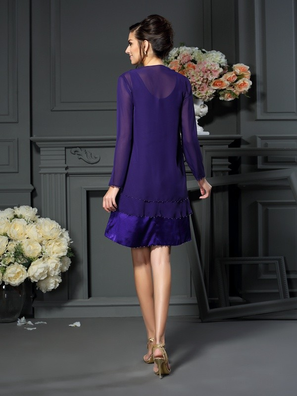 144675b6095fe Long Sleeves Chiffon Special Occasion Wrap - Promlily Online