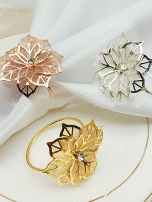 Fascinating Metal With Rhinestone Napkin Rings(12 Pieces)
