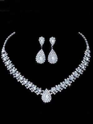 Korean Rhinestone Wedding Bridal Hot Sale Jewelry Set