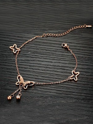 Stunning Titanium With Butterfly Anklets