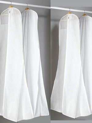 White Elegant Gown Length Garment Bags