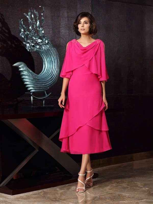 discount sold worldwide free shipping Fuchsia Mother of the Bride Dresses - Promlily Online