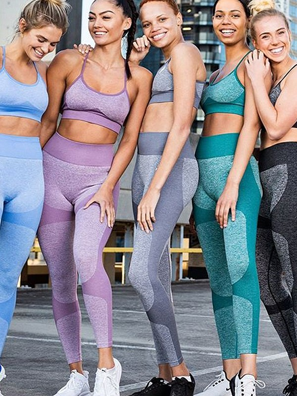 Elegant Cotton Yoga Sports Bra&Leggings
