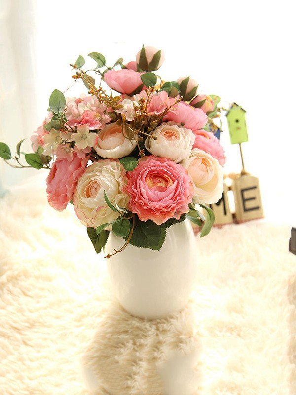 Nice Free-Form Silk Flower Bridal Bouquets/Bridesmaid Bouquets
