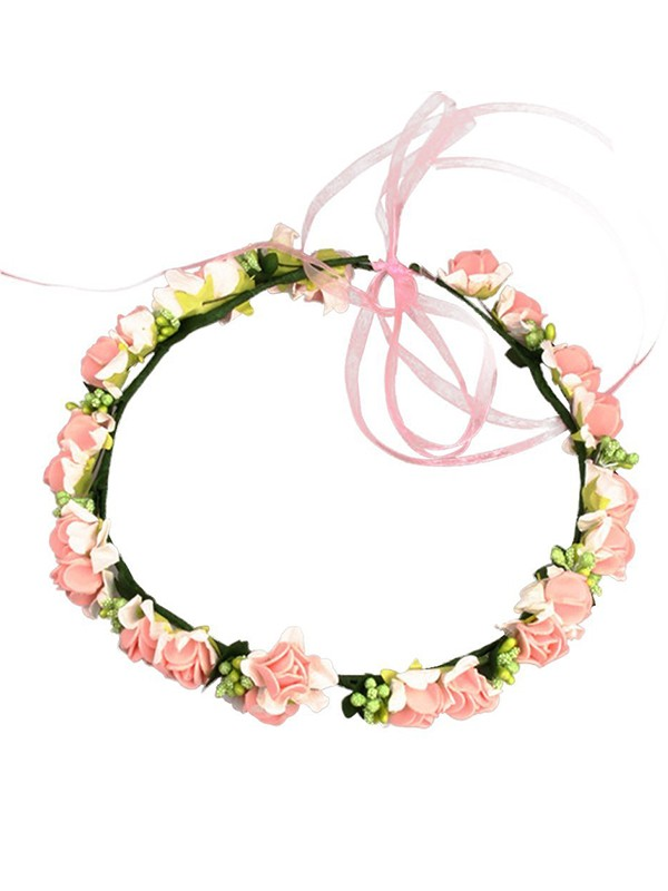 Stunning Plastic With Flower Flower Headbands