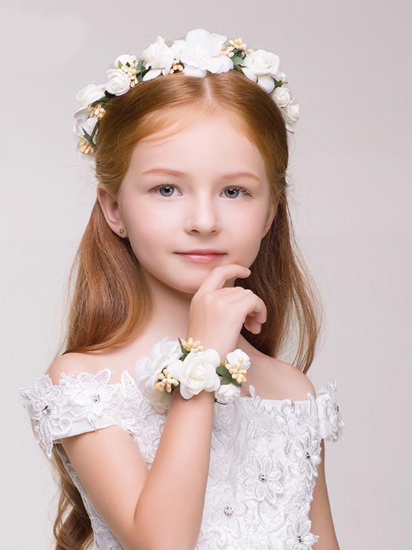 Amazing Plastic With Flower Flower Headbands(Including Wrist Corsage)