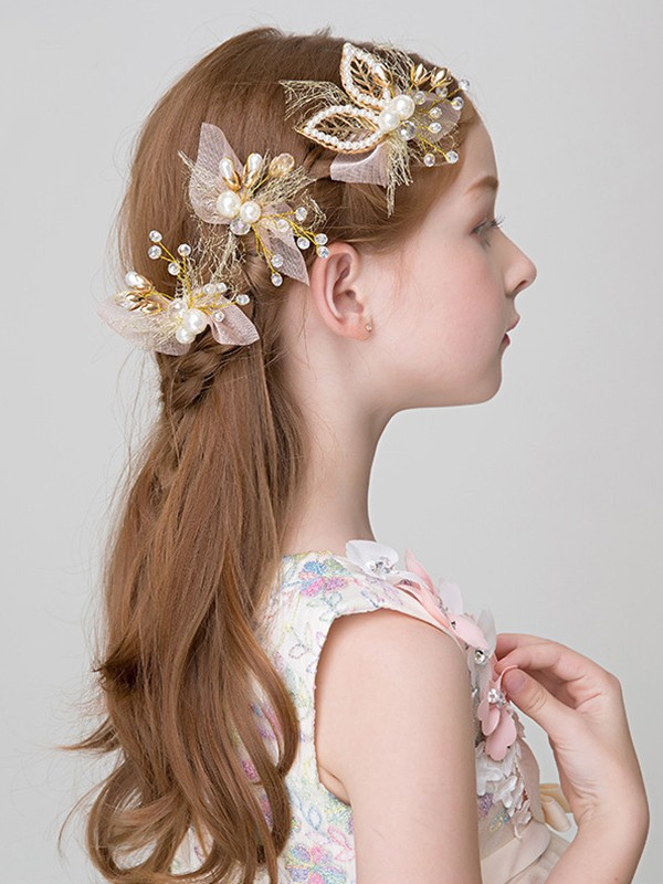 Cute Alloy With Imitation Pearl Headbands