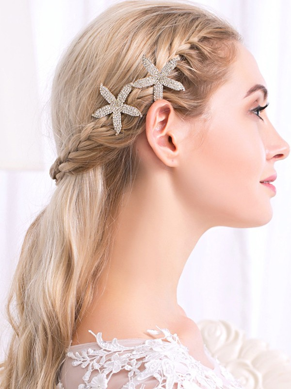 Lovely Alloy With Rhinestone Hairpins(2 Pieces)