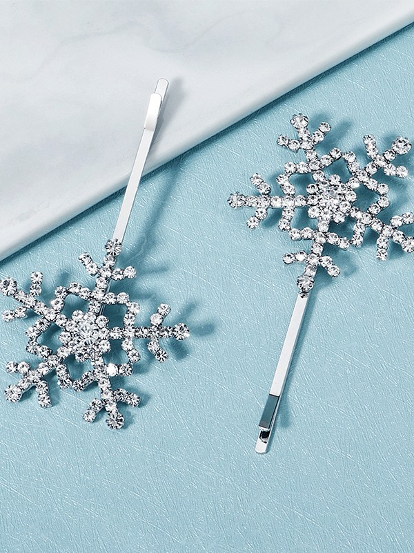 Shinning Alloy With Rhinestone Hairpins(2 Pieces)