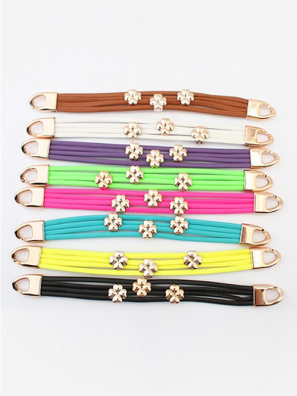 Occident Popular Stylish Leaf clover Hot Sale Bracelets