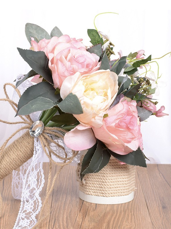Beautiful Free-Form Artificial Flower Bridal Bouquets