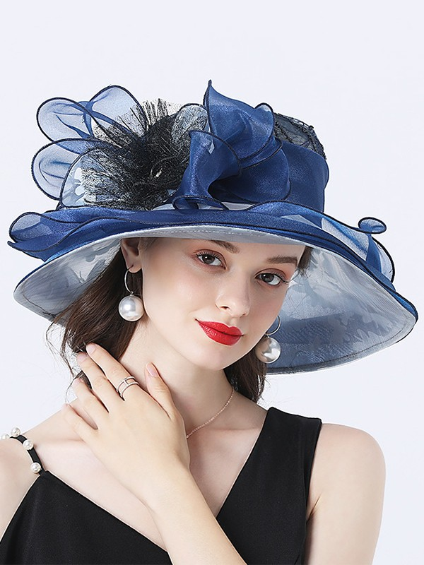 Ladies' Charming Organza Flower Kentucky Derby Hats/Tea Party Hats