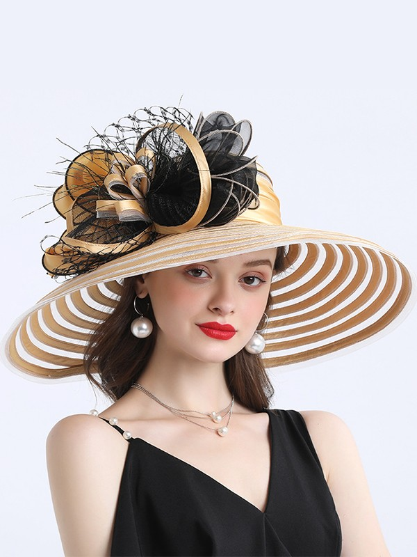 Ladies' Amazing Satin With Flower Beach/Sun Hats/Kentucky Derby Hats/Tea Party Hats
