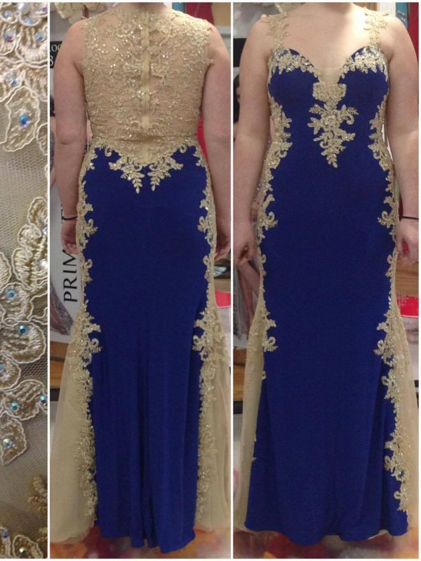 Sheath Straps Sleeveless With Applique Floor-Length Elastic Woven Satin Plus Size Dresses