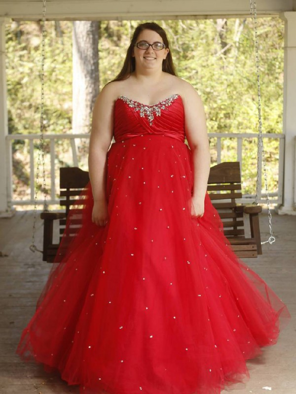 Ball Gown Sweetheart Sleeveless With Beading Floor-Length Organza Plus Size Dresses