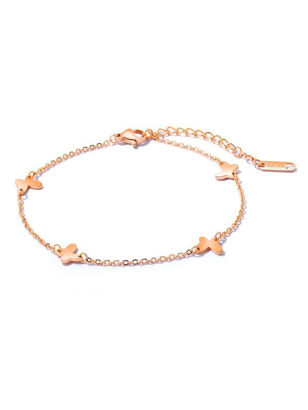 Charming Titanium With Butterfly Hot Sale Anklets