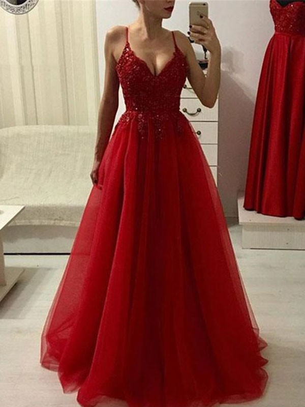 Red Long Prom Dresses - Promlily Online