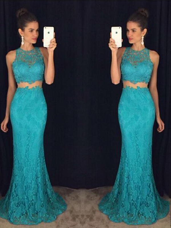 Sheath Lace Scoop Sleeveless Floor-Length With Lace Dresses