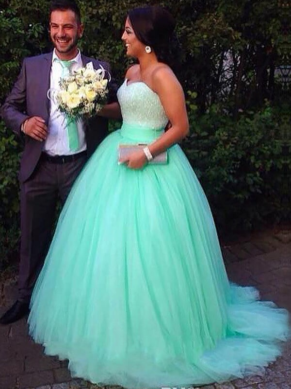 Green Plus Size Prom Dresses - Promlily Online