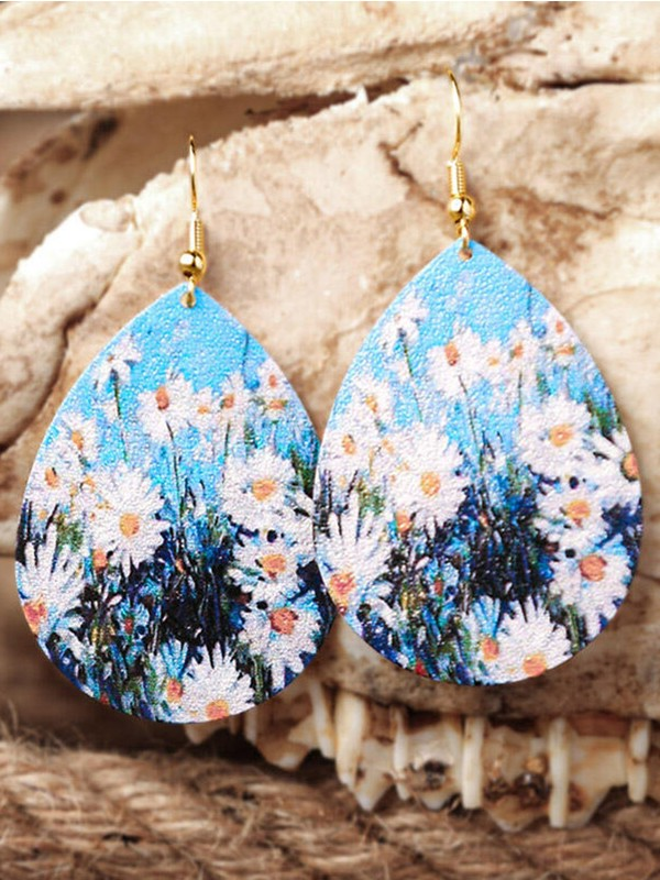 Popular Print Starry Sky Famous Painting Earrings