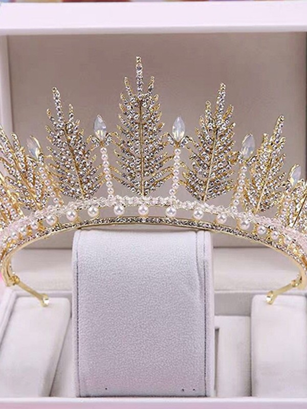 Gorgeous Alloy With Pearl Headpieces For Women
