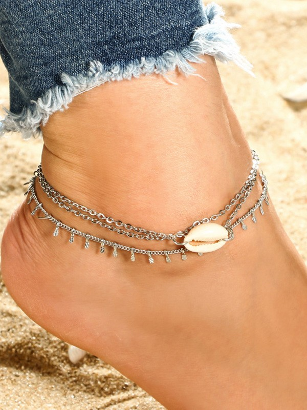 Charming Alloy With Shell Hot Sale Anklets