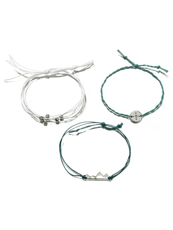 Unique Bohemian Alloy Mountain Hot Sale Bracelets(3 Pieces)