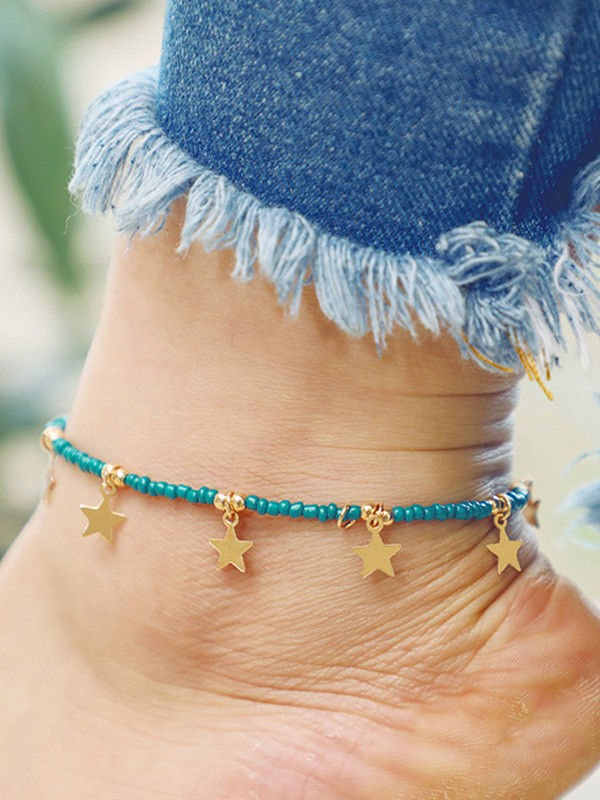 Graceful Alloy With Star Hot Sale Anklets