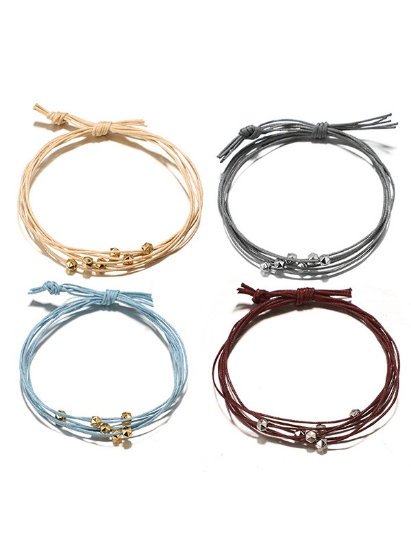 Pretty Alloy With Polygon Hot Sale Bracelets(4 Pieces)