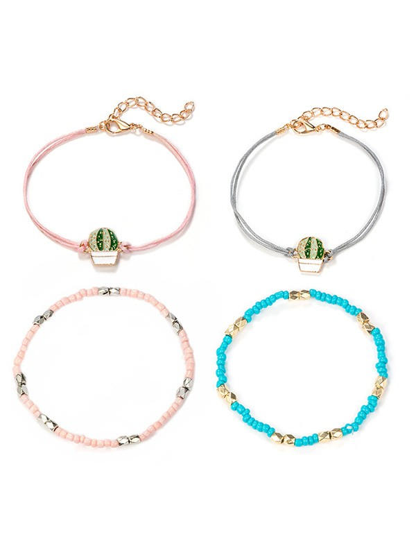Trending Bohemian Alloy With Cactus Hot Sale Bracelets
