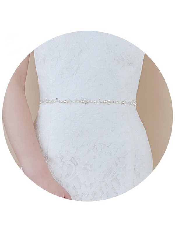 Lovely Satin Sashes With Imitation Pearls